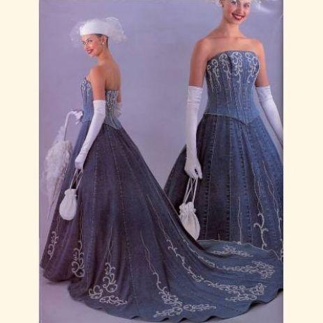 dressy denim suits women | Blue Denim Wedding Dress - ofDresses ...