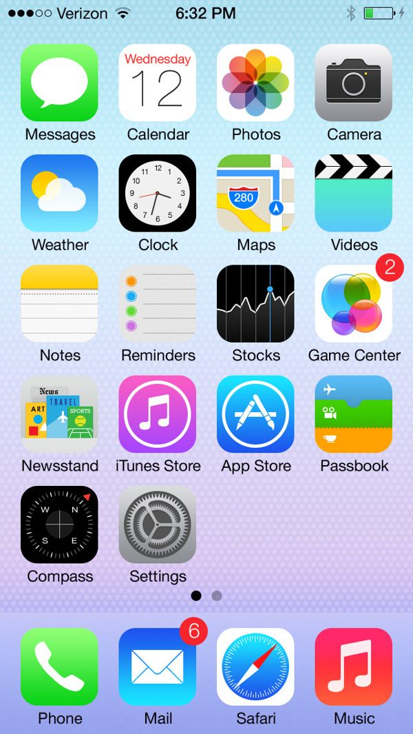 Ios 7 Home Screen With 100 Shape Layers Free Psd By Despoth Via Behance Homescreen Iphone Apps Free Ios 7