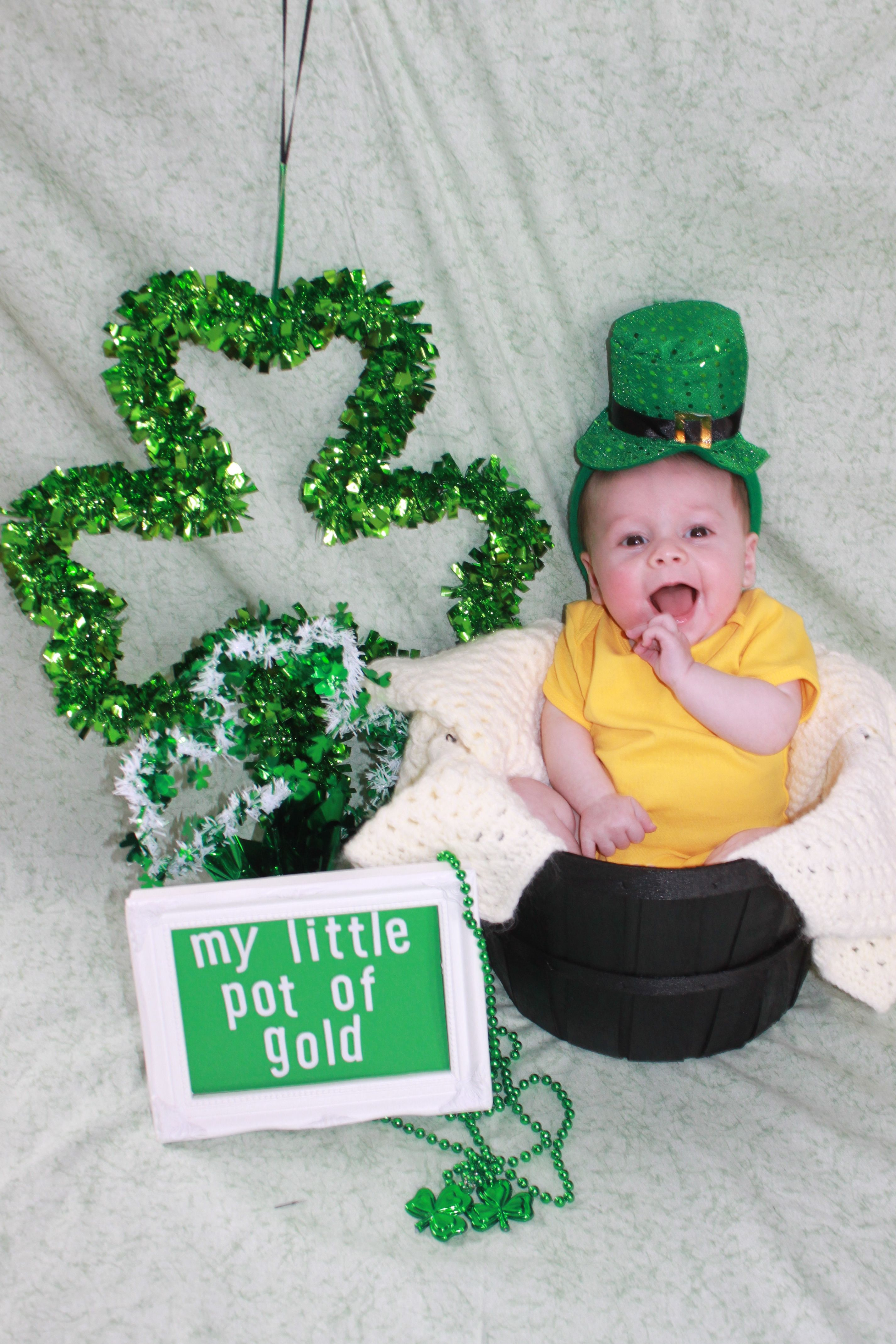 St Patricks Day Picture Idea St Valentines Day St - Dad turns his 6 month old son into real life leprechaun for st patricks day