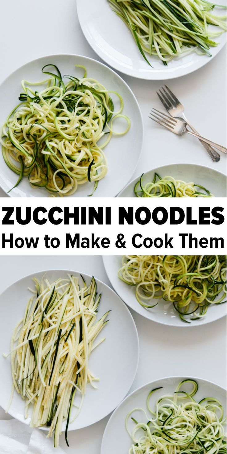 How to Make and Cook Zucchini Noodles - the BEST way images