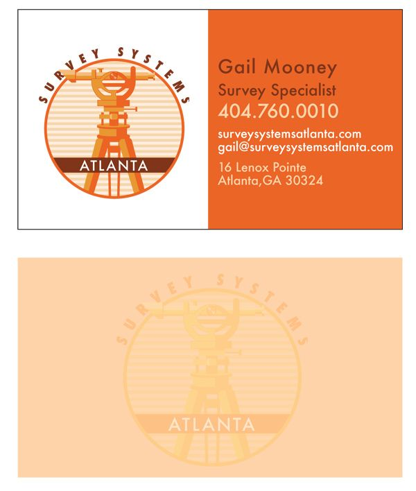 Logo And Business Card Design For A Survey Systems Company