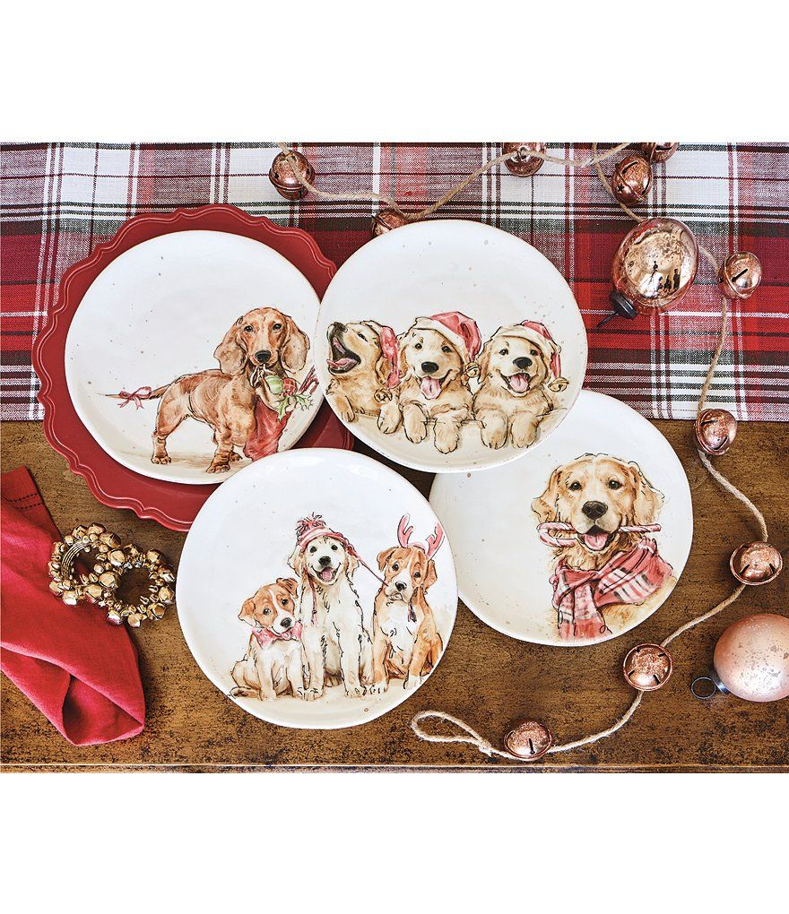 Southern Living Holiday 3 Dog Accent Salad Plate Set Of 2 Diy