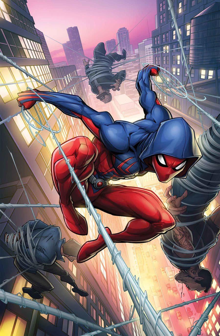 Scarlet Spider Cover By Patrick Brown Scarlet Spider Marvel Dc Comics Spiderman