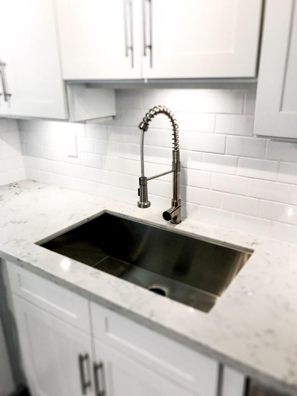 Modern kitchen subway tile backsplash by Gabriel Genier | The ...