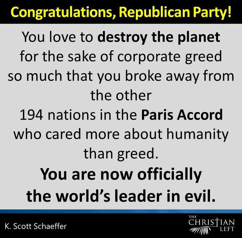THE ABSOLUTE TRUTH!  REPUBLICAN  LEADERSHIP IS EVIL INCARNATE.