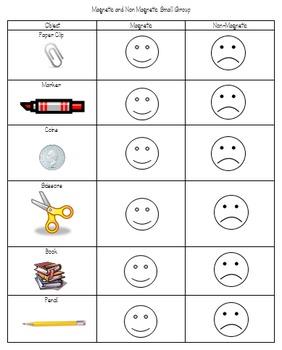 Magnetic Vs Non Magnetic Worksheet Kindergarten Worksheets Kindergarten Worksheets Printable Printable Preschool Worksheets Magnets kindergarten worksheet