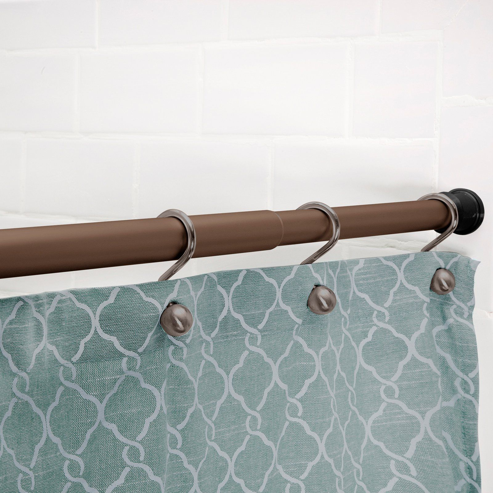 Kenney Twist Fit No Tools Rust Proof Tension Shower Curtain Rod