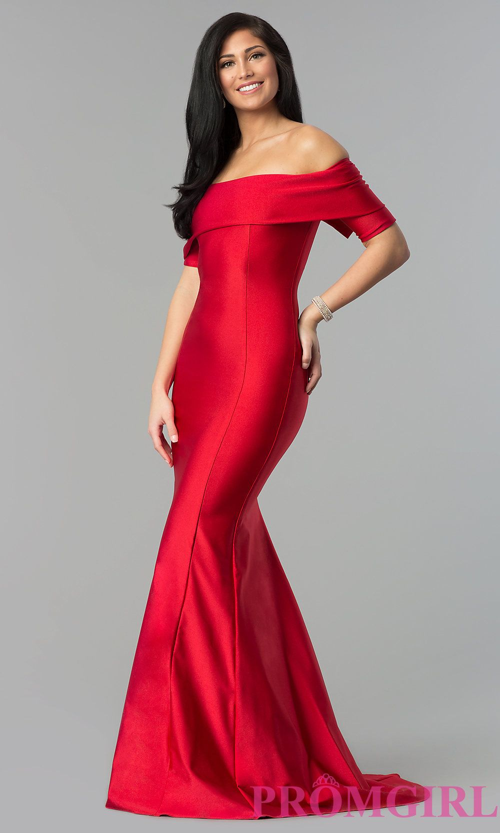 Long Off The Shoulder Prom Dress With Train Prom Dress With Train Dresses Prom Dresses With Sleeves [ 1666 x 1000 Pixel ]