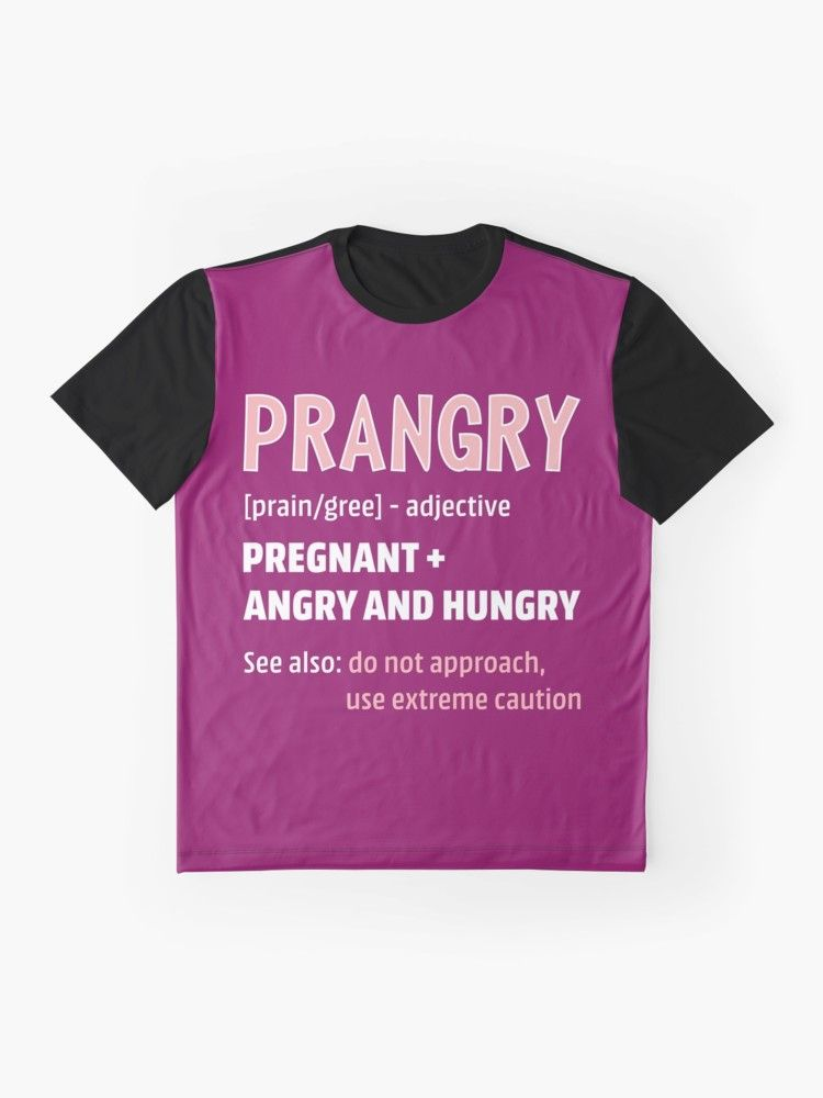 e1e13ce6 Prangry Pregnant Angry Hungry Shirt Gift New Mom Mommy To Be Fun Gift For  Daughter First Time To Be Mom Mother To Be New Mother Fun Saying Shirts Fun  Gift ...