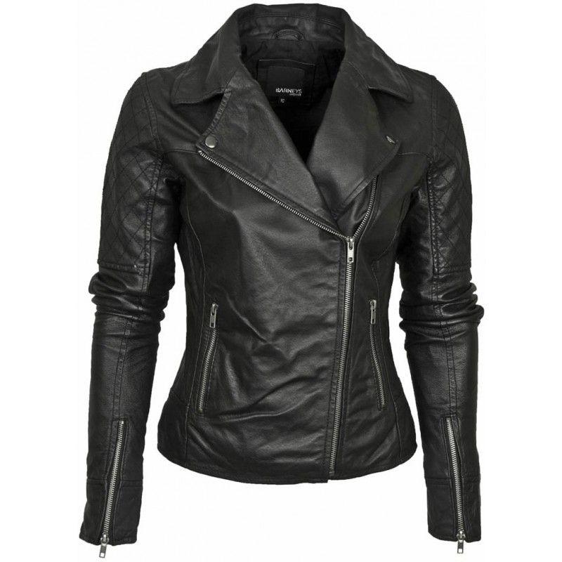 Leather Biker Womens Jacket