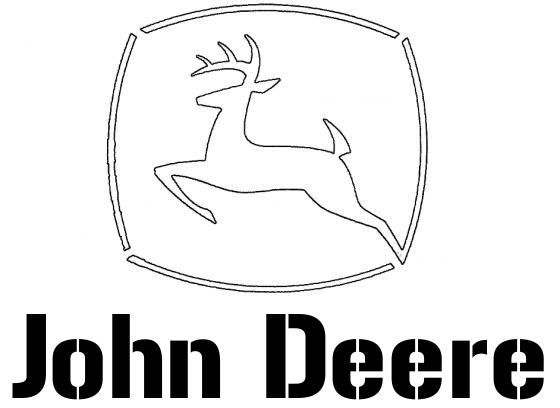 john deere stencil for painting