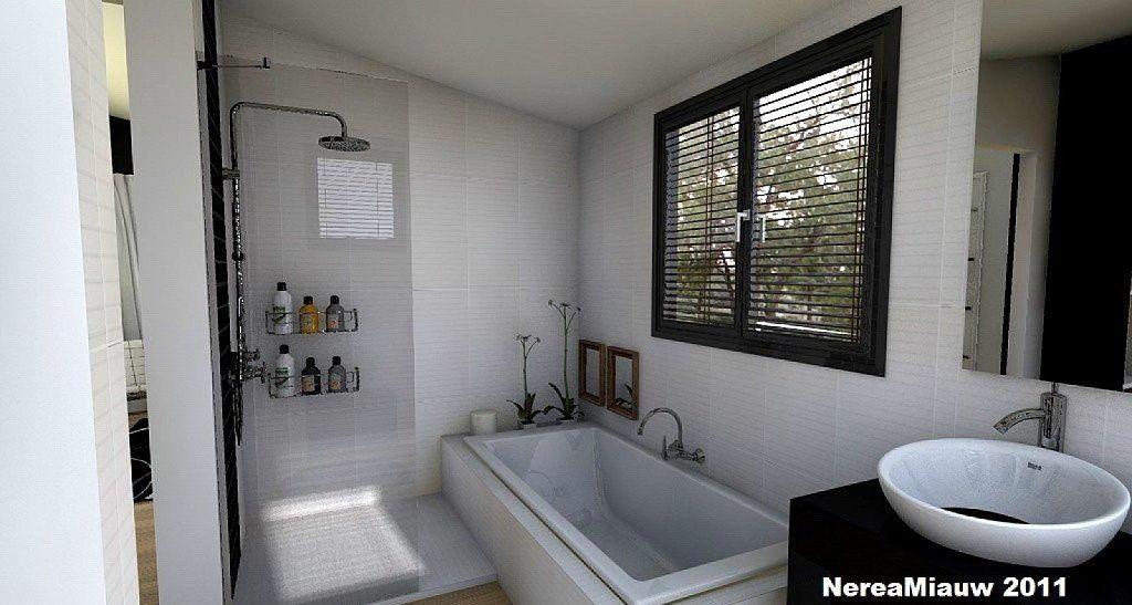 Bano Con Tina Y Ventana Bathroom Design Design Bathtub