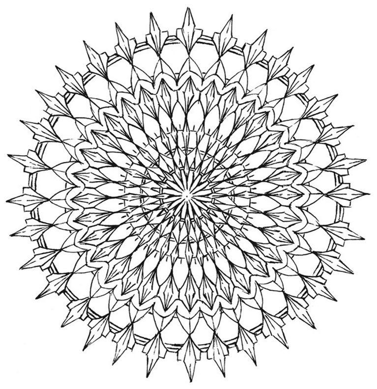 Mandala 577, Creative Haven Kaleidescope Designs Coloring