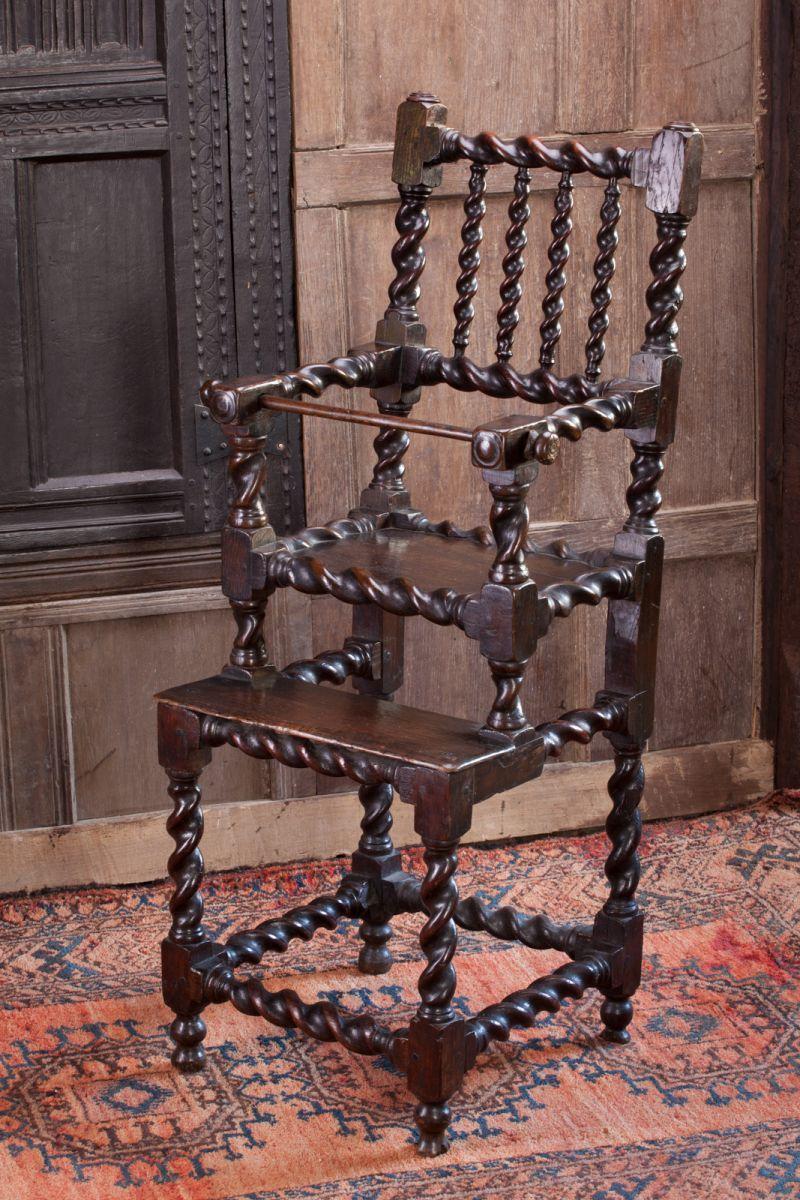 17th century Child's high chair, Marhamchurch antiques - 17th Century Child's High Chair, Marhamchurch Antiques Chairs