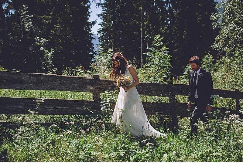 Marion und Armin, romantische Hochzeit in den Bergen Südtirols