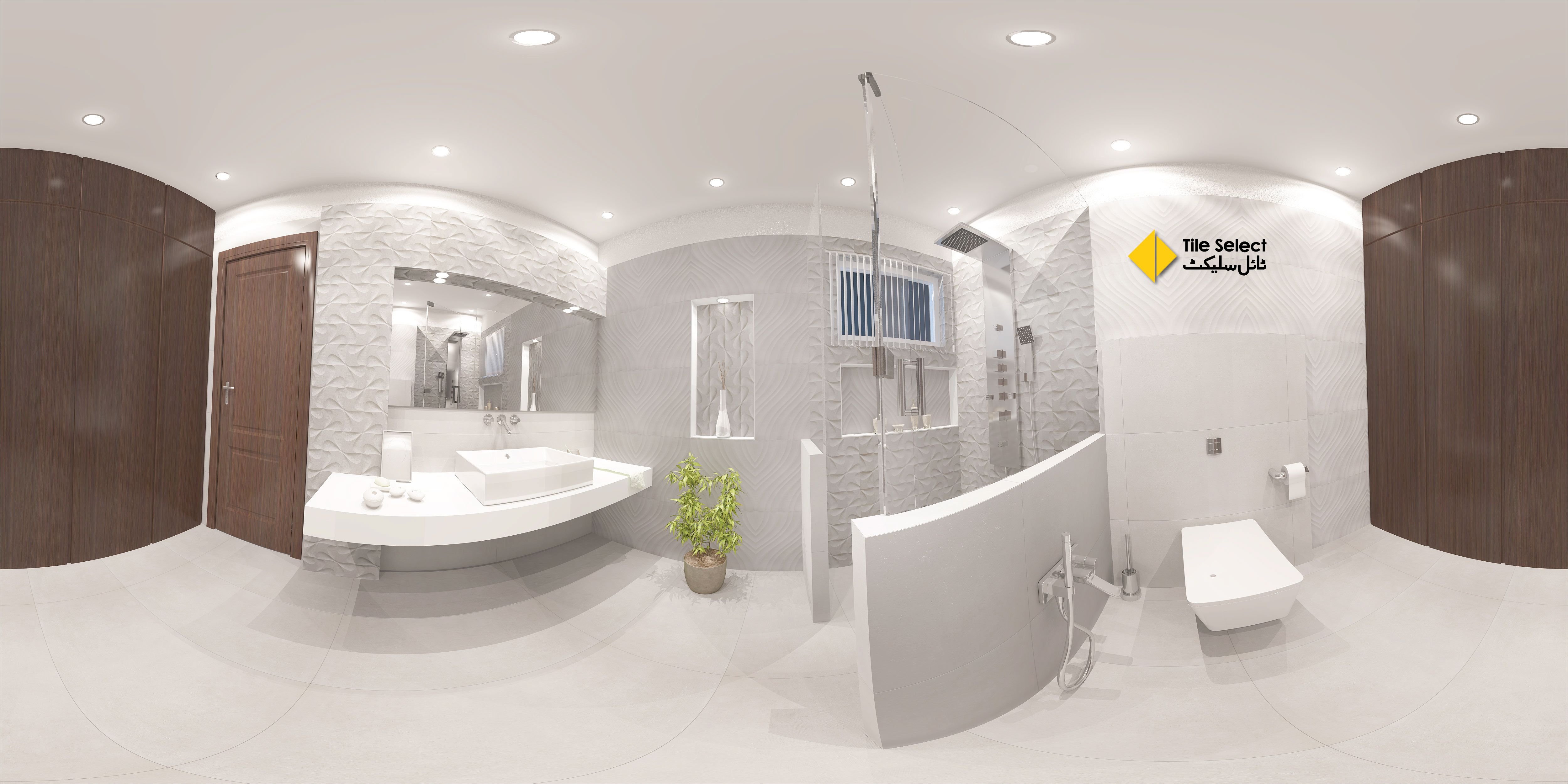 A Simple Yet Attractive 3d Bathroom Interior 3dinterior Bathroominterior Homeinterior Interior Visit O With Images Bathroom Interior Tile Showroom Living Room Tiles
