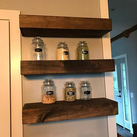 Wood Floating Shelves 10 Inches Deep Rustic Shelf Farmhouse Shelf Floating Shelf Reclaimed Wood Handmade Shelf Wood Wall Shelf Wood Floating Shelves Floating Shelves Rustic Shelves