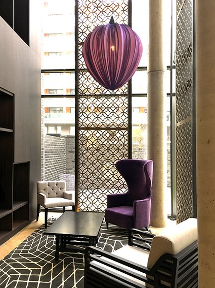 i prefer the impersonal away from home hotel decor - Violet Hotel Decor