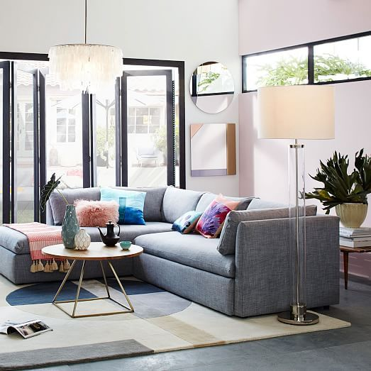 Shelter 2 Piece Terminal Chaise Sectional Living Room