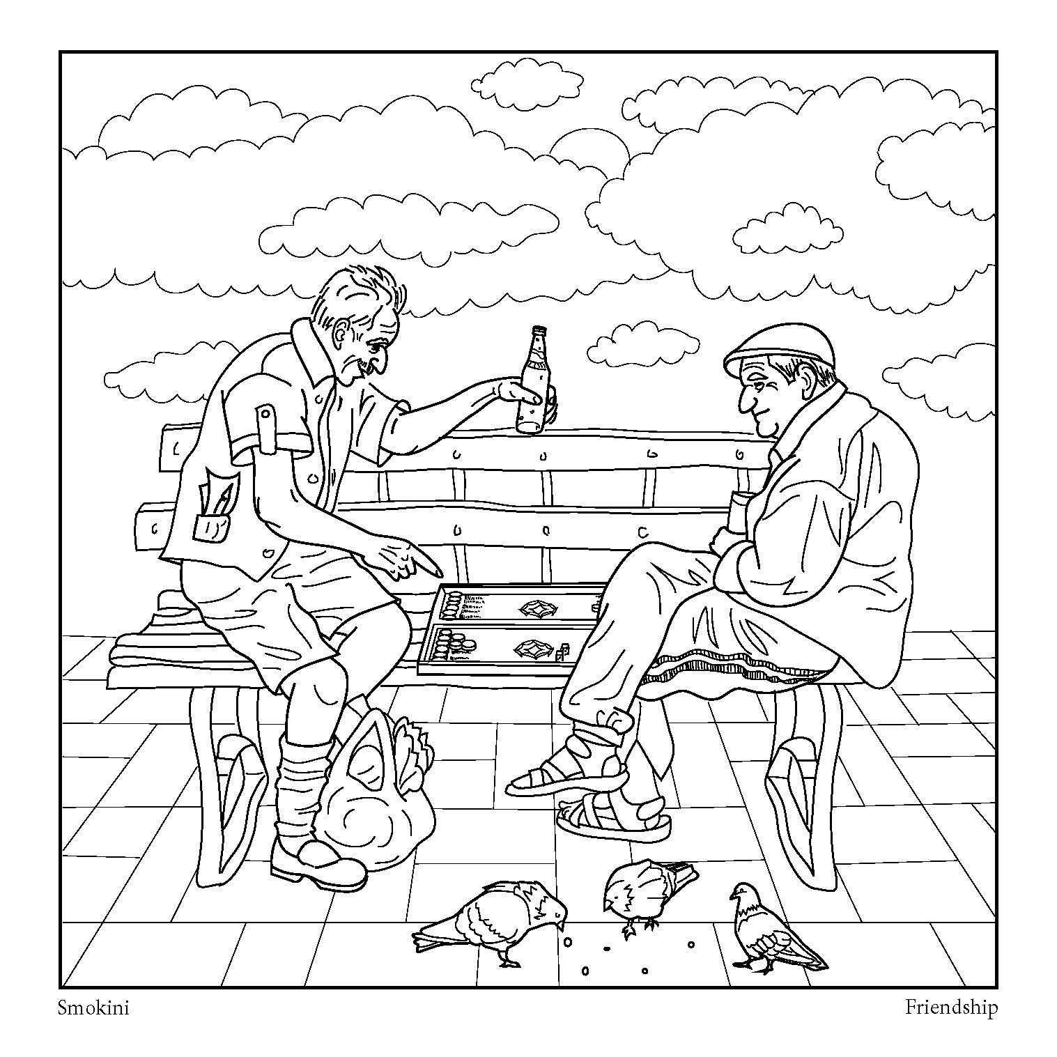 This An Adult Coloring Page Part Of The Coloring Book Urban