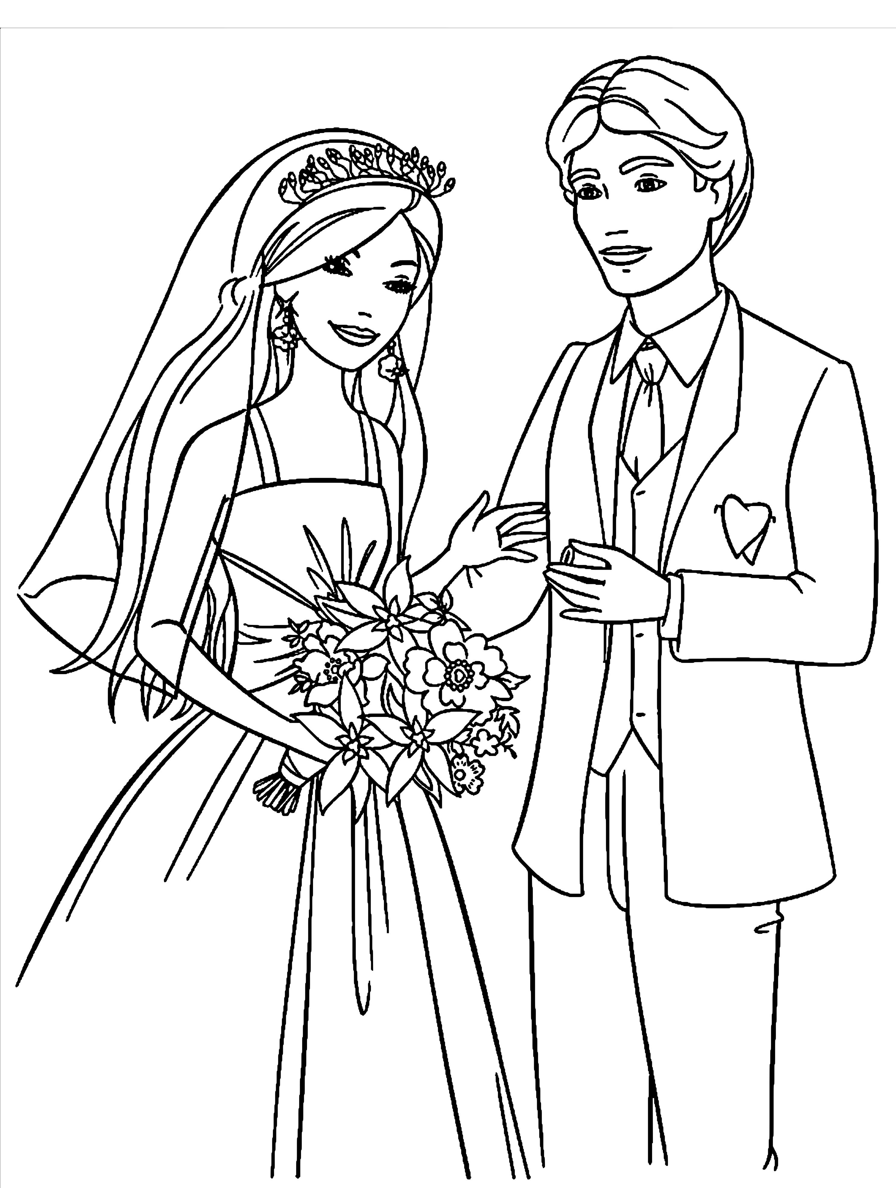 Ausmalbilder Hochzeit Kostenlos Drucken ...