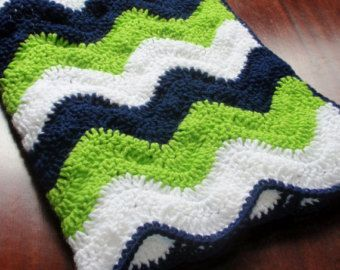 Seahawks colored Ripple Baby Blanket