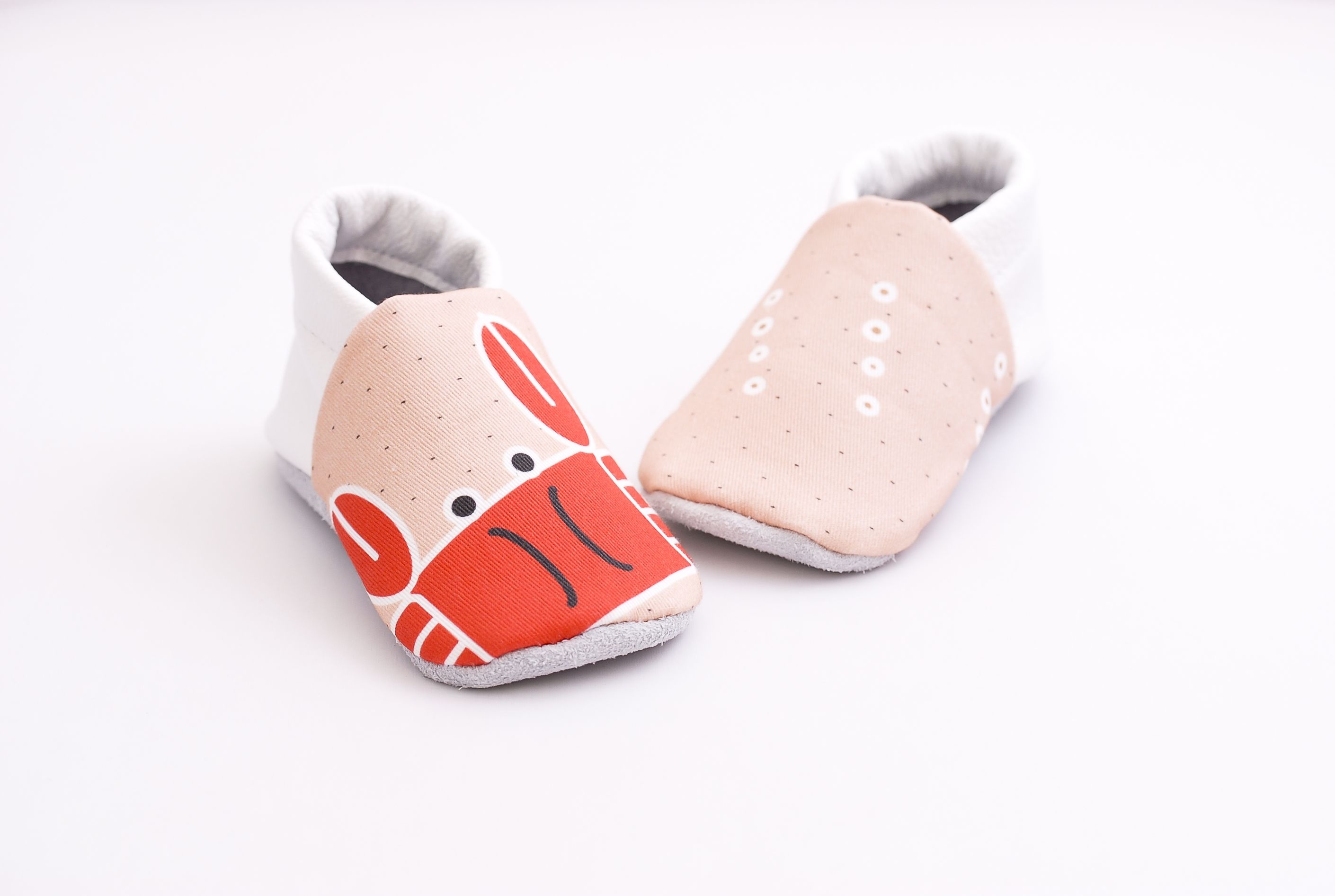 Grab the crab Soft sole shoes from FIRST BABY SHOES