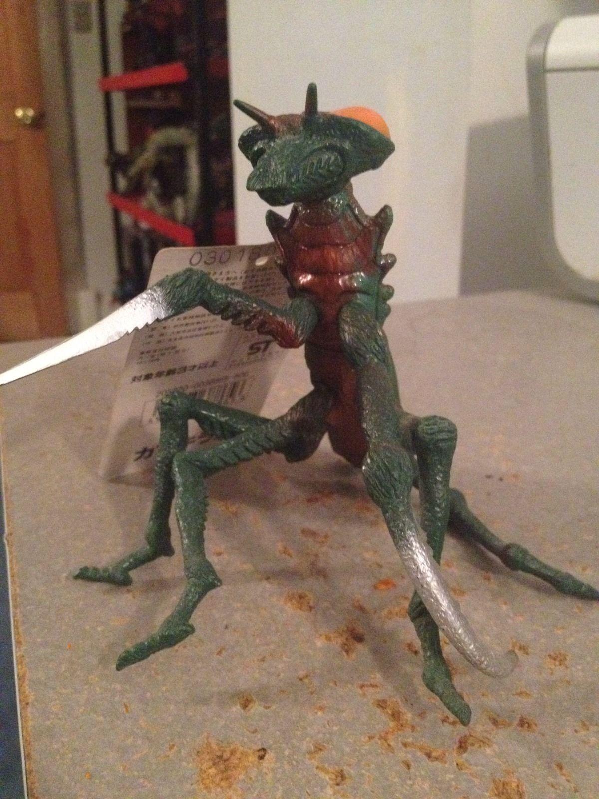 Bandai 1993 Japan Godzilla Series Kamacuras Figure Kaiju