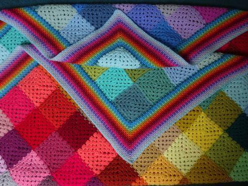 Colourwash Granny Blanket Ta Dah Attic24 Easy Crochet Blanket Linen Stitch Crochet Borders