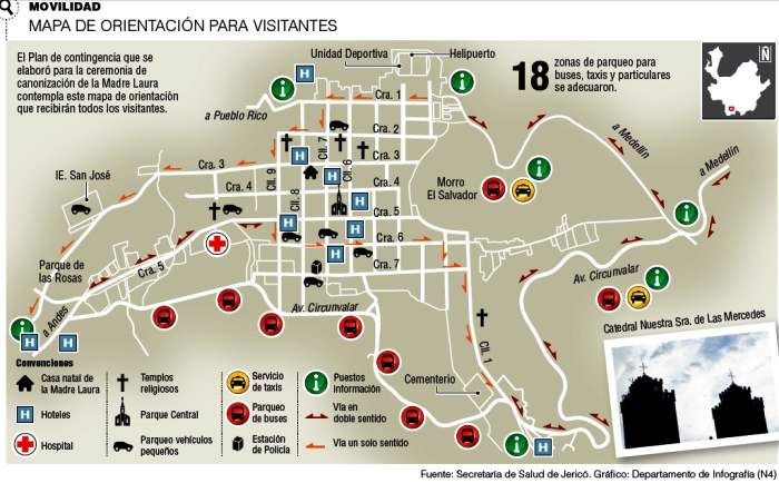 #Jericó Mapa de Orientación para Visitantes #Serviciosturísticos