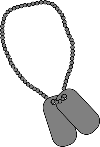 military dog tags clip art military dog tags image national rh pinterest com dog tags clip art free dog tag chain clipart