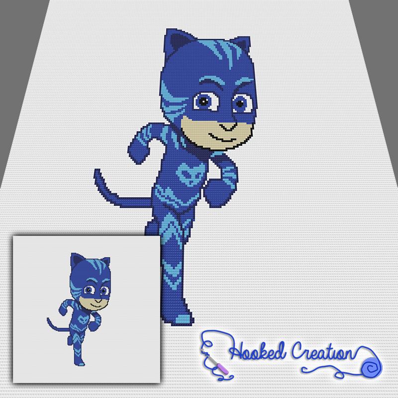 Cat Boy SC Throw Blanket Crochet Pattern - PDF Download   Graphghan ...