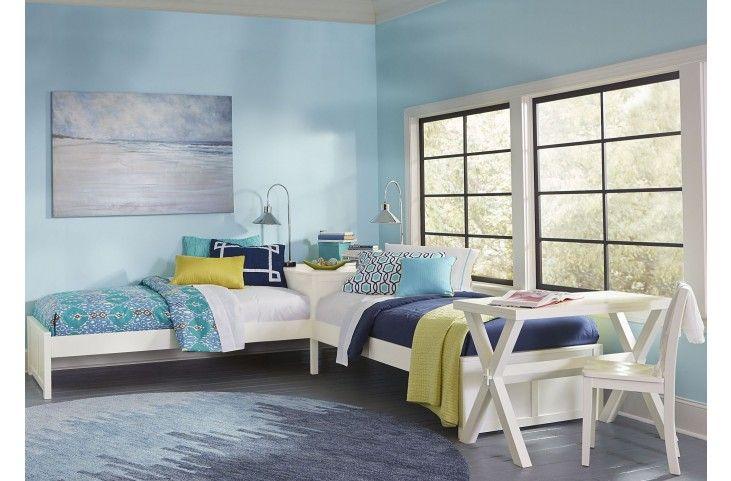 Best Pulse White Twin L Shape Panel Bed L Shaped Beds L 640 x 480