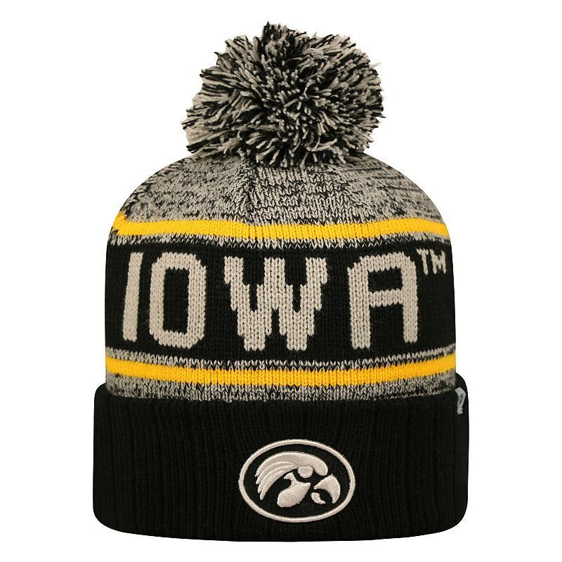 sale retailer ed063 d3bc1 Adult Top of the World Iowa Hawkeyes Heezy Skate Hat, Black- Mens