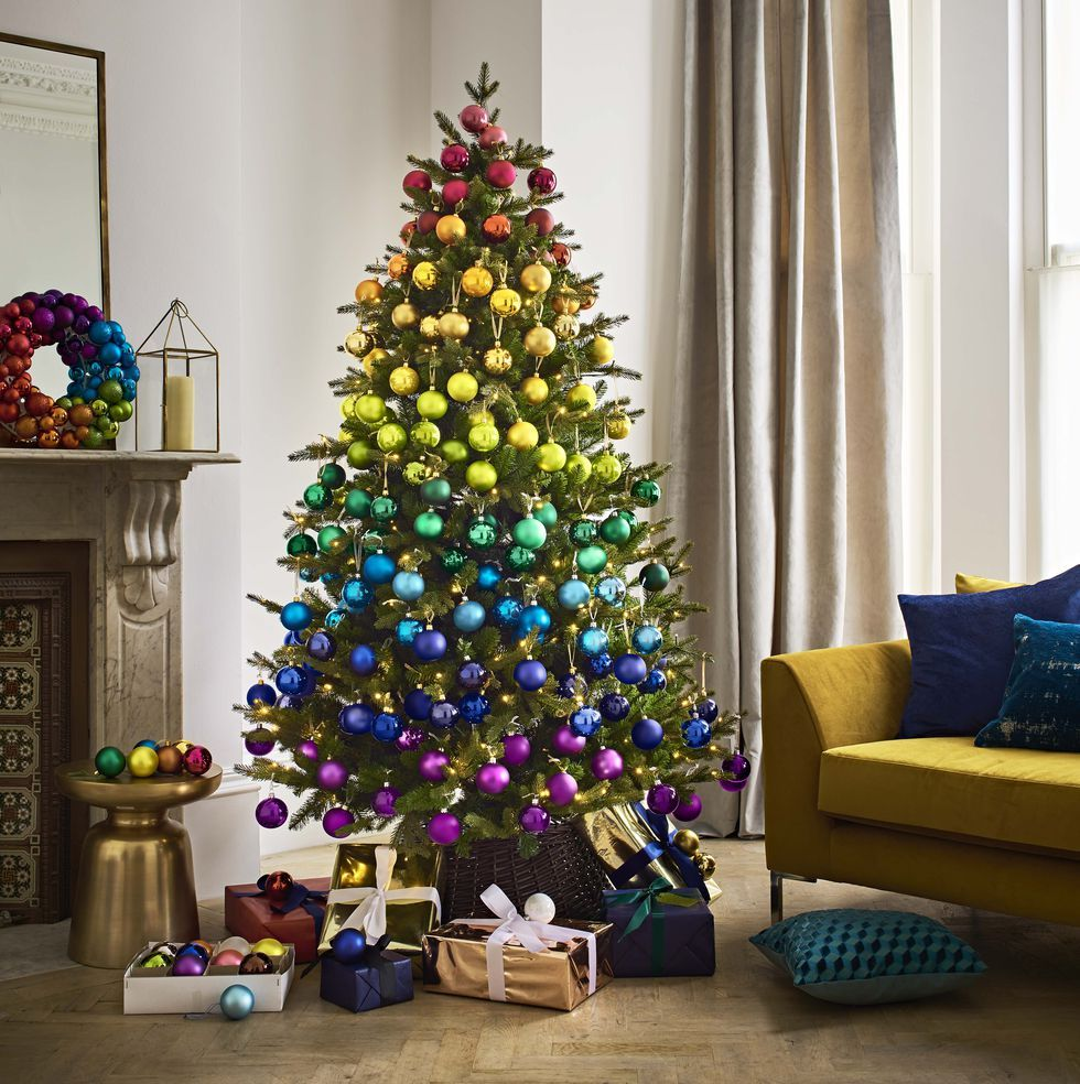 This Will Be The Biggest Christmas 2018 Decorating Trend Reveals John Lewis Christmas Decor Trends Rainbow Christmas Tree Rainbows Christmas