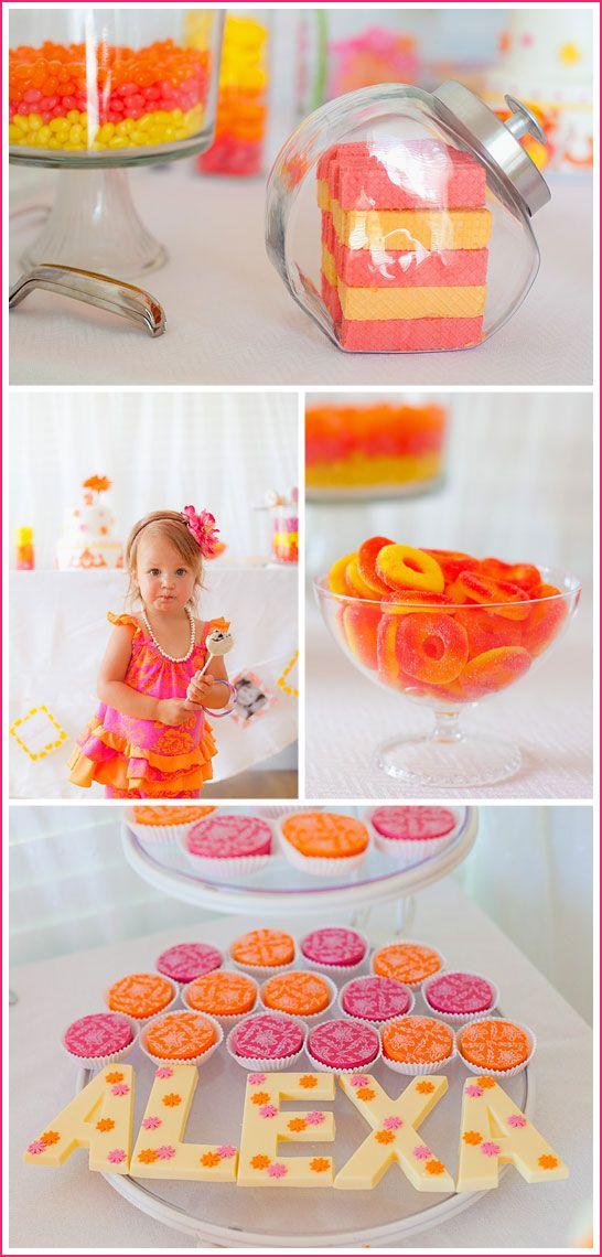 pink and orange!