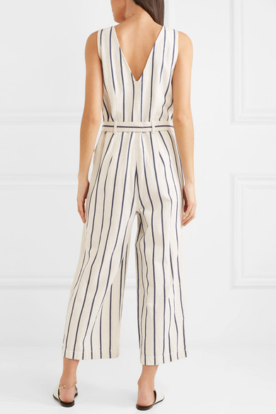 58ac3e5189 Madewell - Striped Cotton And Linen-blend Jumpsuit - Cream