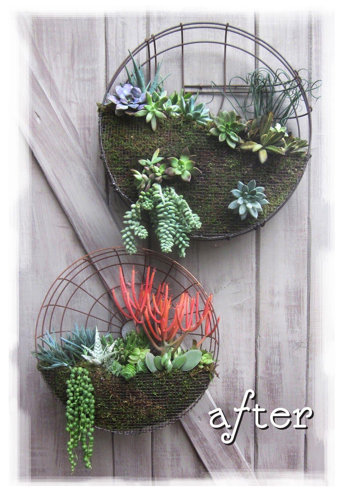Floreira Usando Tampa De Ventilador Decora O E Reciclagem  ~ Macetas Originales Para El Jardin