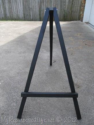 How To Make A Large Display Easel Diy Easel Display Easel Easel