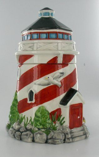 Lighthouse Kitchen Cookie Jar Nautical Design By Evergreen,  Http://www.amazon