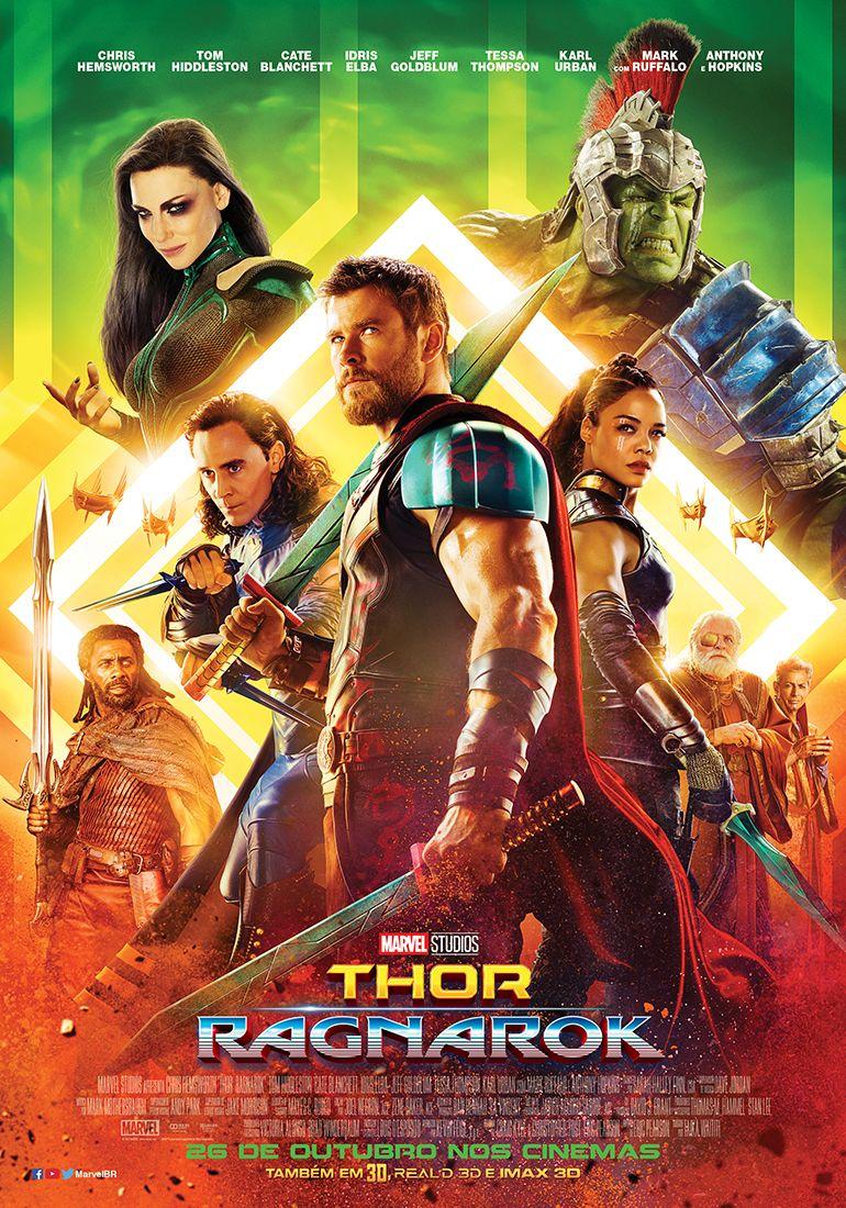 Thor Ragnarok Ganha Cartaz Ilustrado Com Doutor Estranho Com