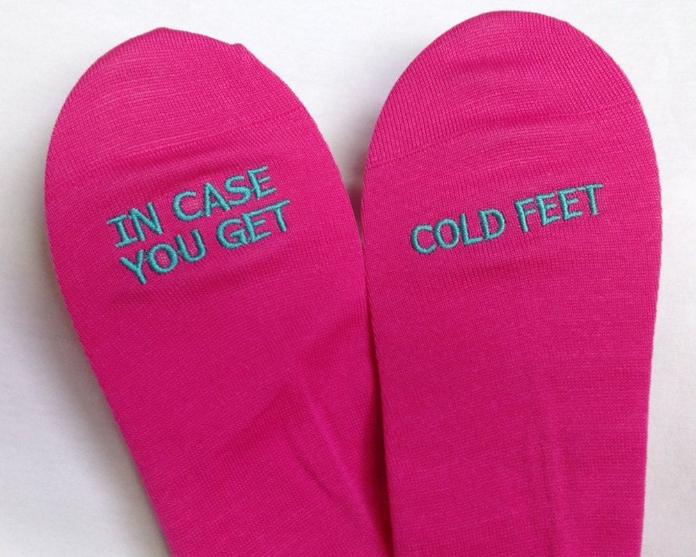 Grooms Socks in case you get cold feet by SilkscreenExpress, $35.00 ...