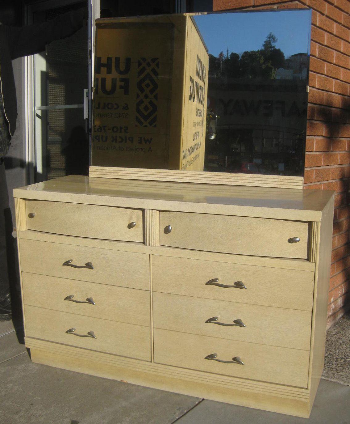 Sold 1950s Dresser With Mirror 60 Dresser With Mirror Mid Century Modern Furniture Dresser