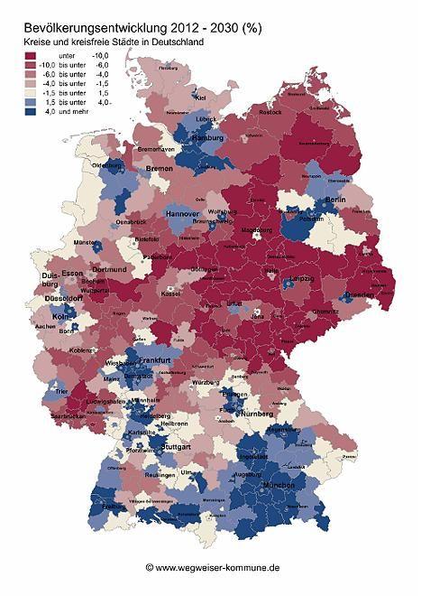 Deutschland Schrumpft Bis 2030 In Diesen Regionen Will Kaum Einer