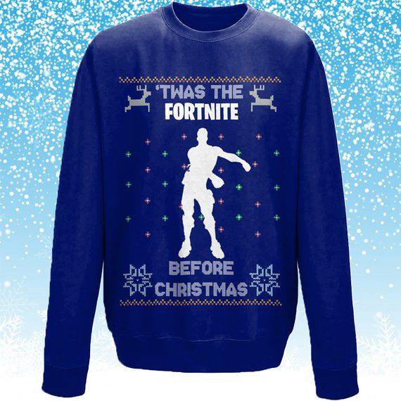 Ugly Christmas Sweater Fortnite Funny Christmas Sweater Fortnite