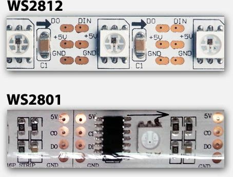official photos c9642 a8ddb Digital LED strip - WS2812 (top) and WS2801 (bottom) | DIY ...