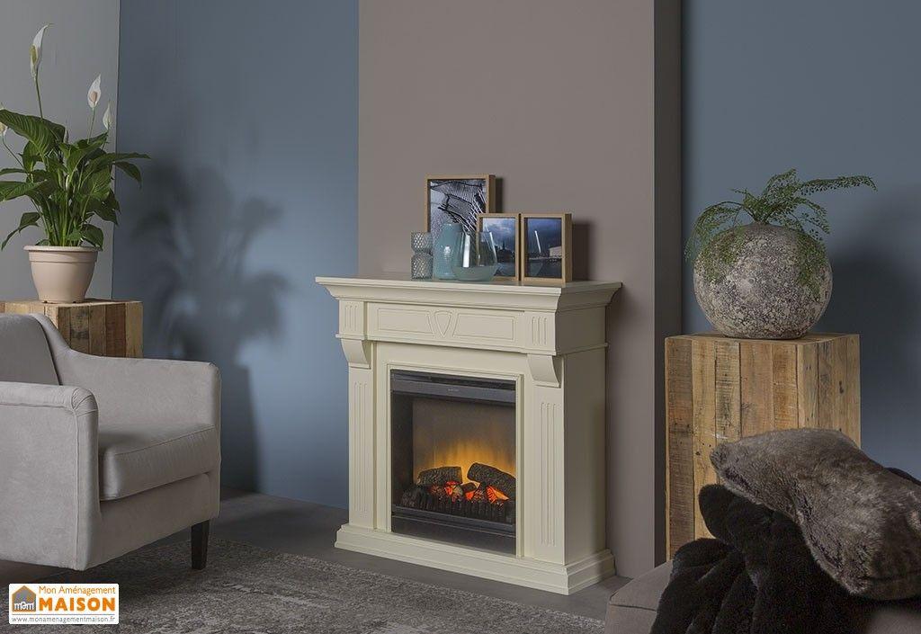 chemin e lectrique blanche 94 cm foyer d coratif optiflame dimplex chauffage pinterest. Black Bedroom Furniture Sets. Home Design Ideas