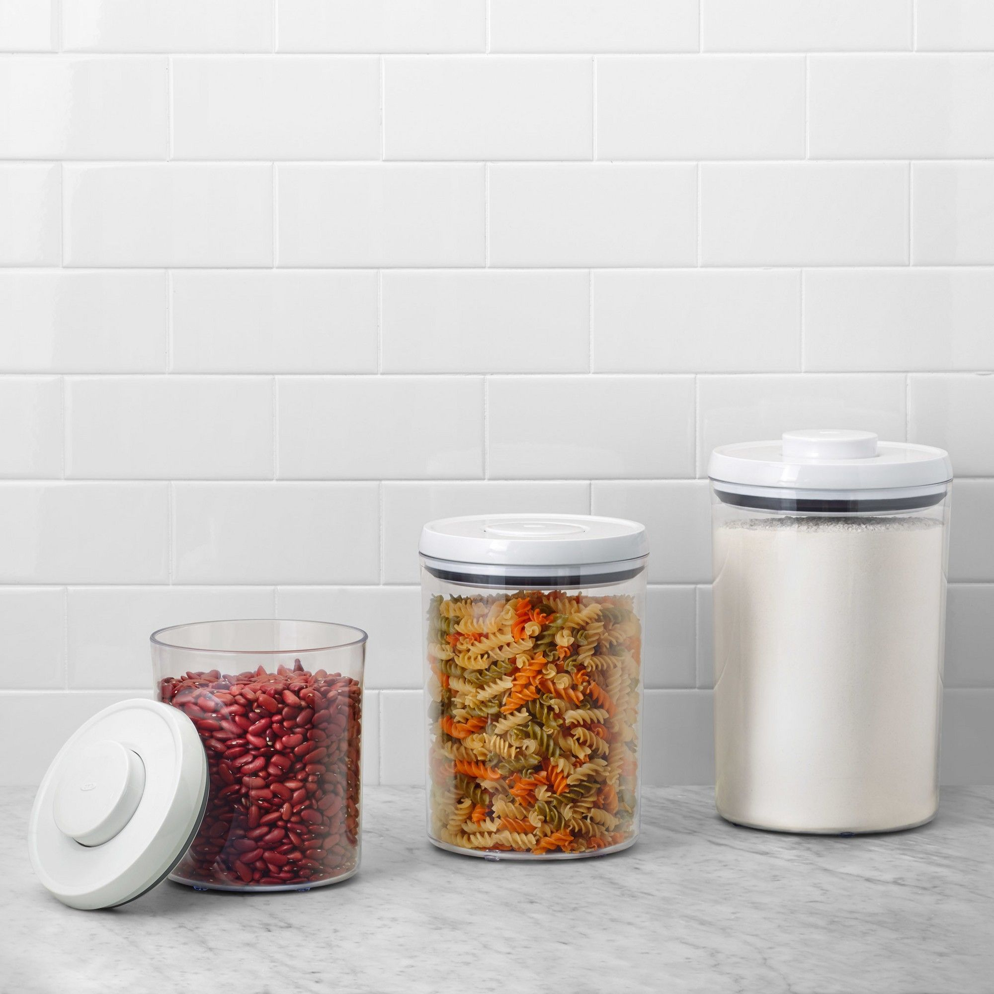 Oxo Pop 3pc Airtight Round Canister Set Oxo Pop Containers