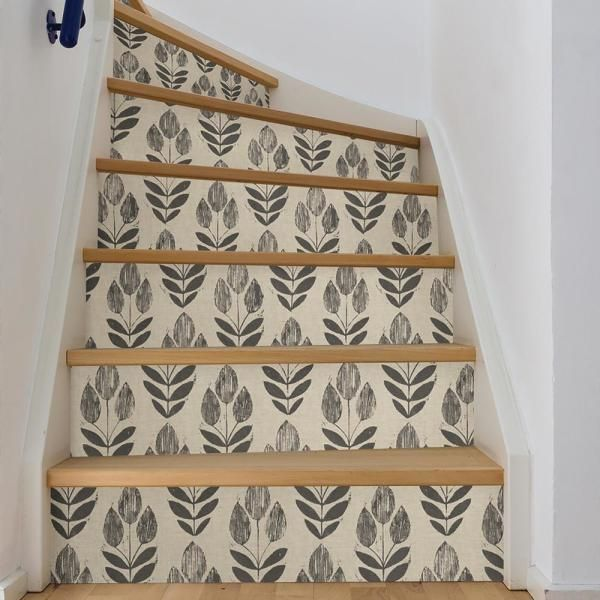 NuWallpaper Folk Tulip Neutral Wallpaper Sample-NU2459SAM - The Home Depot