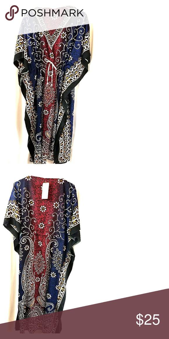 57801147e0 Caftan Multicolored caftan with draw-string Ace Fashion Dresses Maxi ...